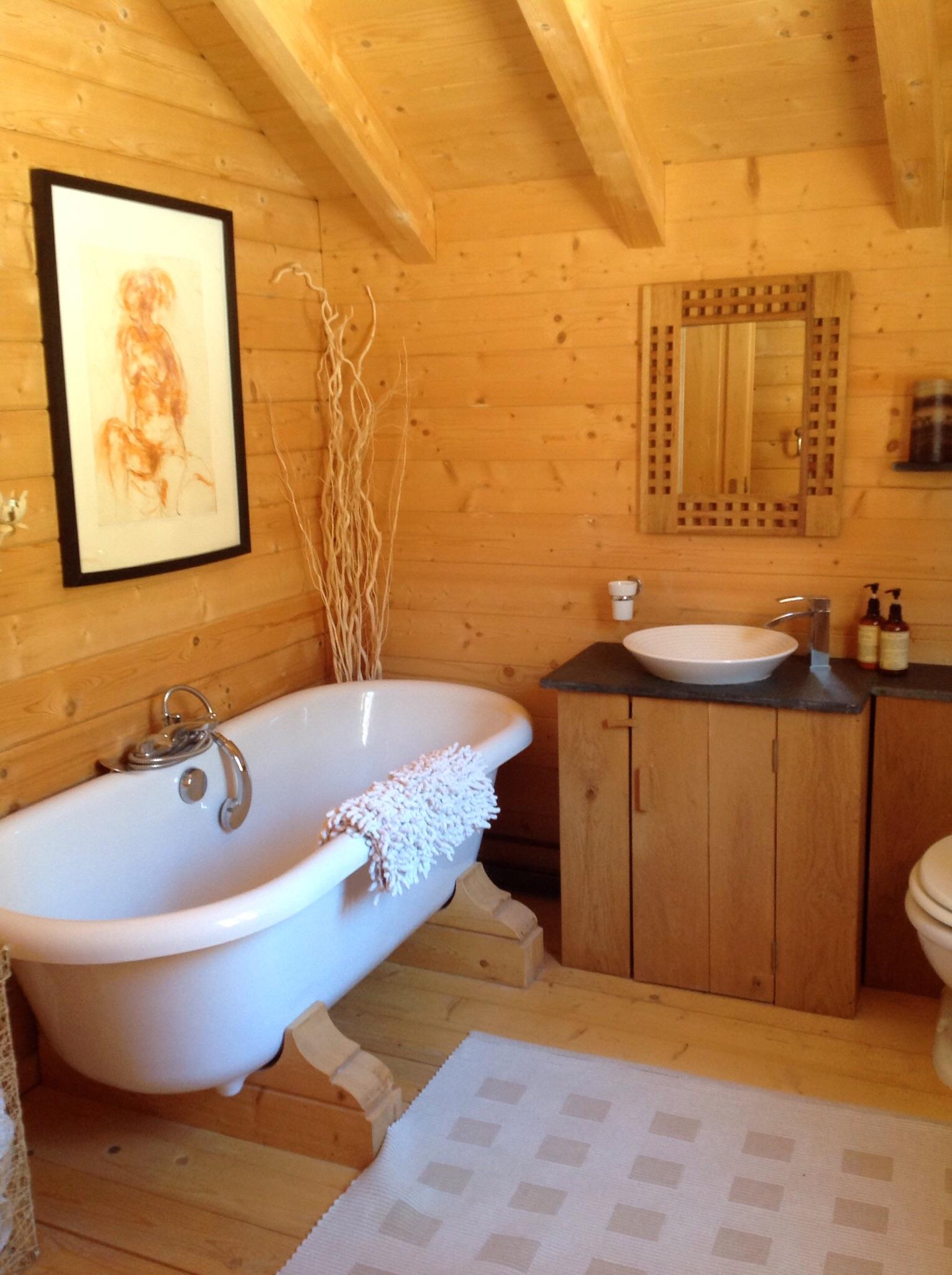 Int rieurs et meubles esprit chalet for Interieur salle de bain moderne